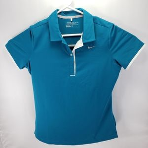 Womens Nike golf polo tshirt size L